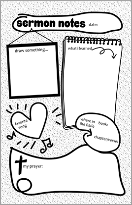 Church Art Bulletin Template Example of Sermon Notes for Kids