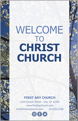 Church Art Bulletin Template Welcome Spring Example Cover