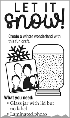 Church Art content example of winter craft idea titled Let It Snow