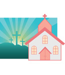 Church Art Full Color Clip-Art Image