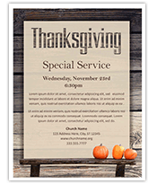 Thanksgiving Service Flyer