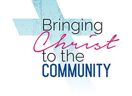 Church Art Clip-Art cross with caption Bringing Christ to the Community
