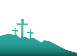 Church Art Clip-Art silhouette of three crosses on a hill without caption