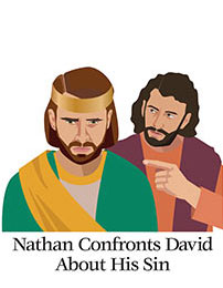 Church Art Clip-Art -King David and Nathan with caption Nathan Confronts David About His Sin