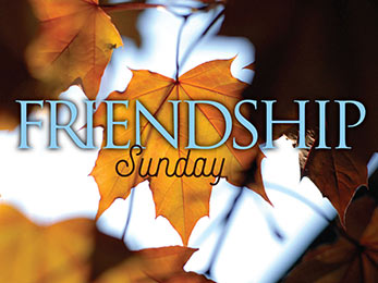 Church Art PowerPoint image of Fall Leaf and Friendship Caption