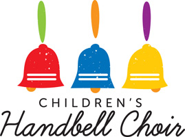 Bible Clip-Art for Kids with three handbell and CHILDREN'S HANDBELL CHOIR caption