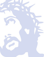 Jesus wearing crown of thorns as background illustration