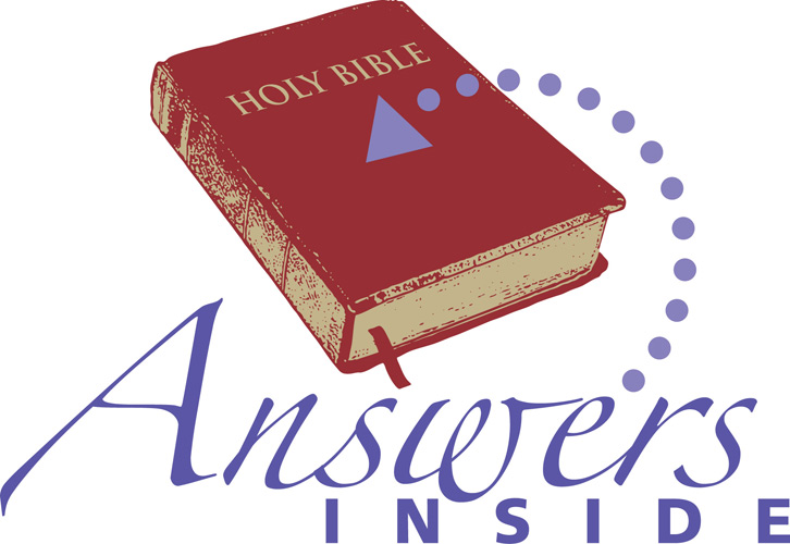 Clip-Art image of Holy Bible with ANSWERS INSIDE caption