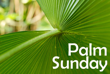Christian Easter Graphic Photo with Palm Sunday caption