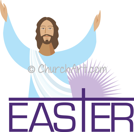 Jesus image with Easter image
