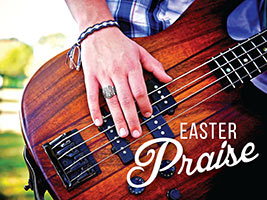 Easter Religious Guitar Photo with Praise Caption