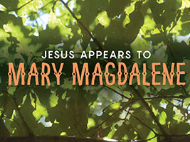 Easter Religious Leaves with Mary Magdalene caption