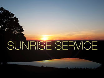 Easter Religious Sunrise Horizon Photo with Sunrise Service Caption