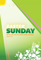 Easter Sunday Bulletin Cover with Luke 24:5 Scripture