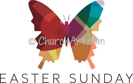 Easter Sunday butterfly image