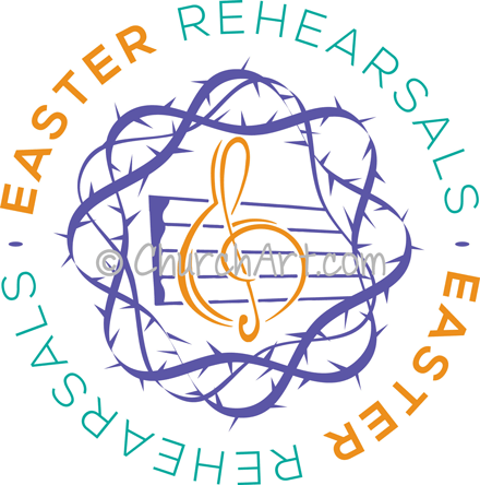 Easter Rehearsals with music note image
