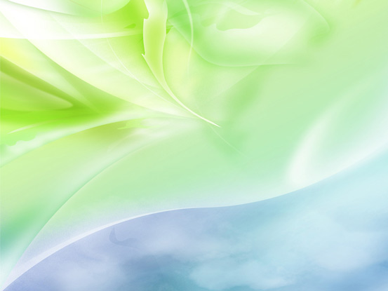 Blue and Green worship background with faint leaves