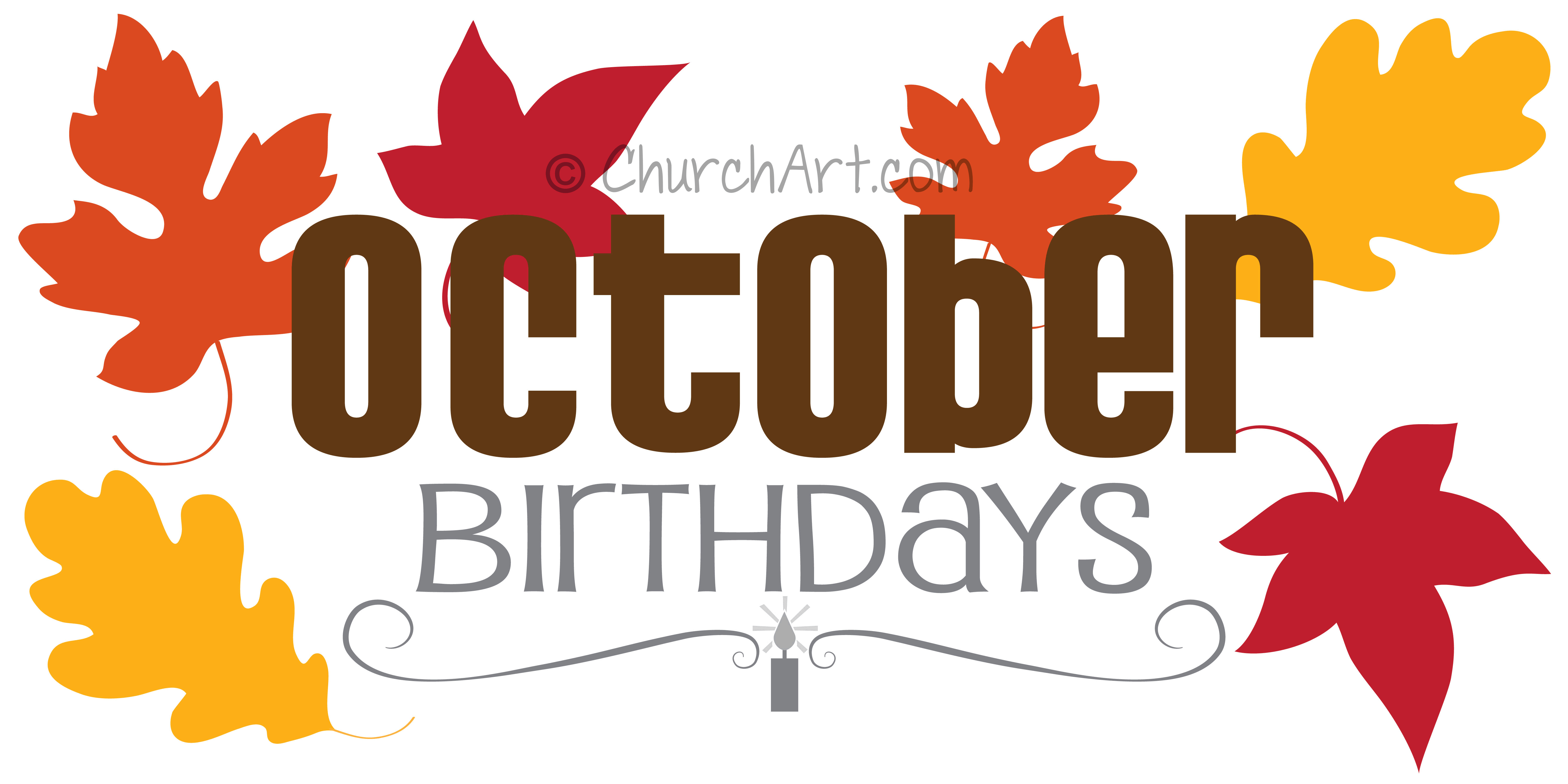 Clipart image for monthly church birthdays featured in church newsletter or bulletin