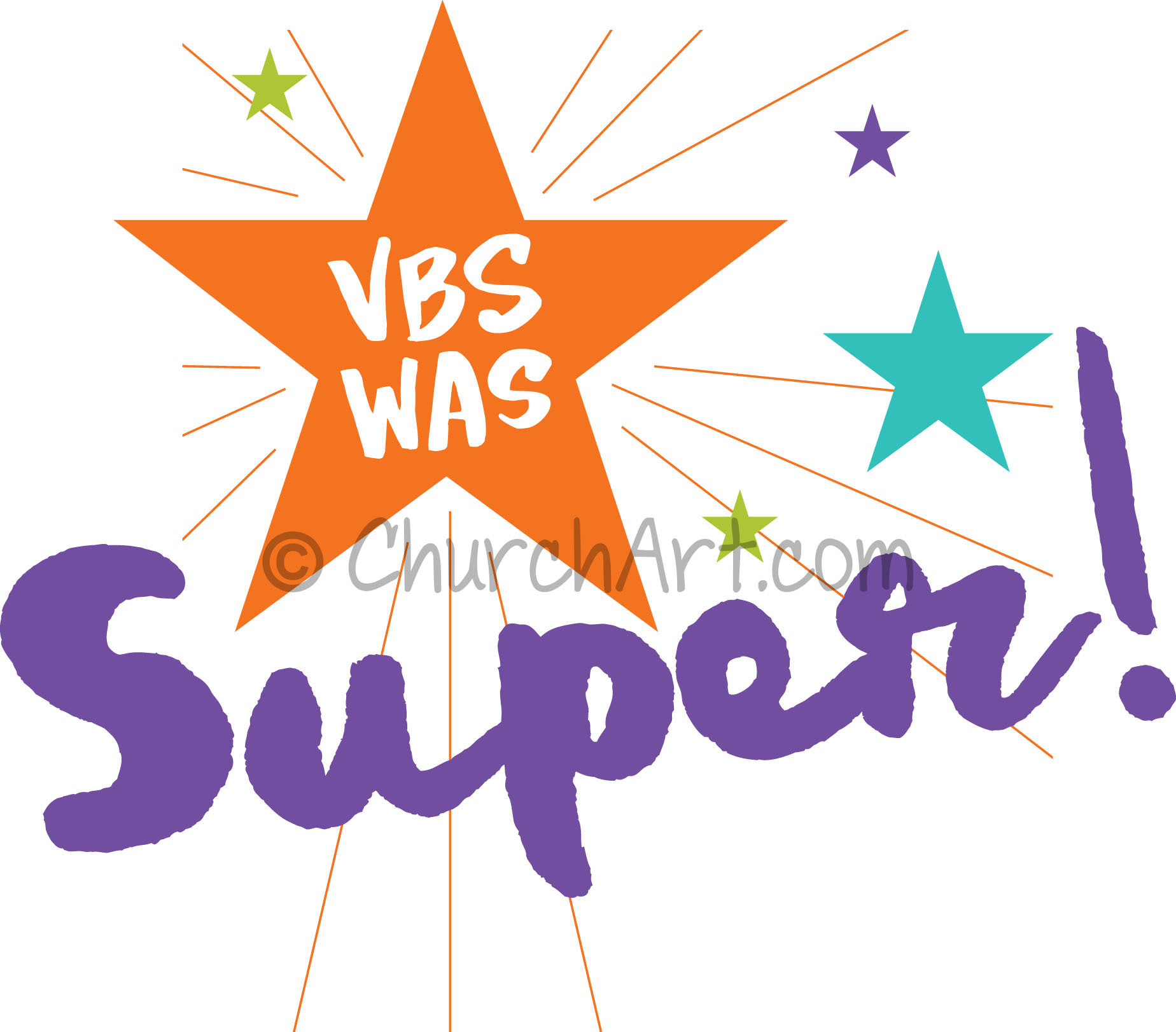 Vacation Bible School Clip-Art with VBS was Super caption