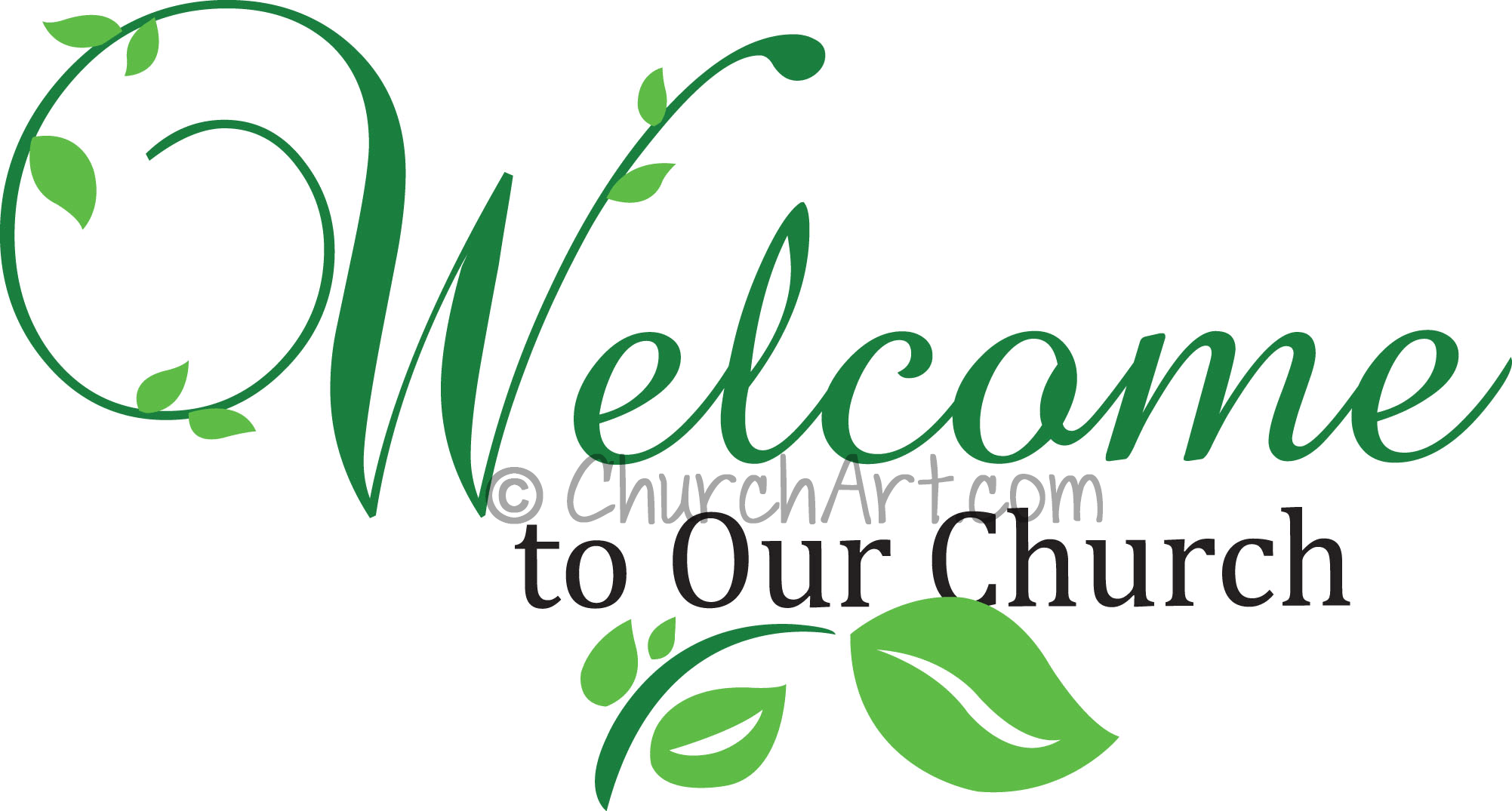 Welcome to our church clipart image for church bulletin or church newsletter welcoming new members to church