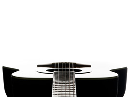 Acoustic guitar as background photo