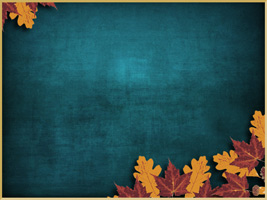 Yellow and Red Leaves on rich background, perfect for Fall and Thanksgiving Church Worship Services