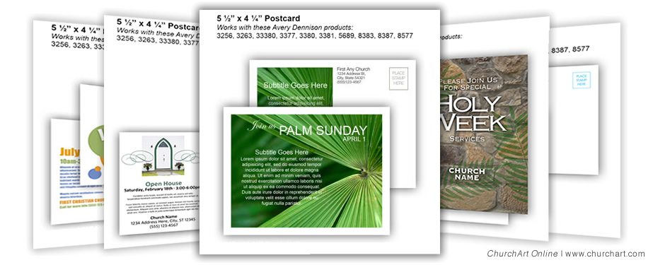 Palm Sunday Postcard