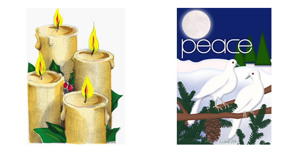 Advent bulletin covers for every church event