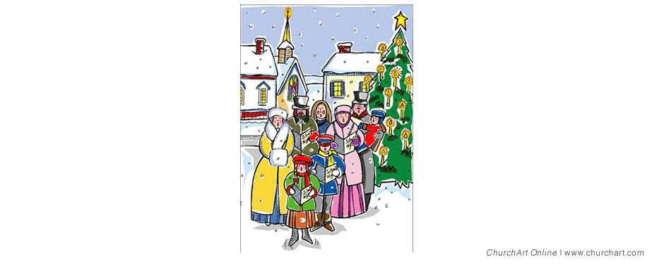 free clipart christmas carolers - photo #48