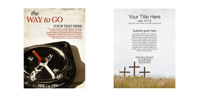 free church invitation flyer templates