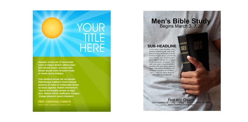 Extensive Christian Flyer Library  Christian Flyer Templates