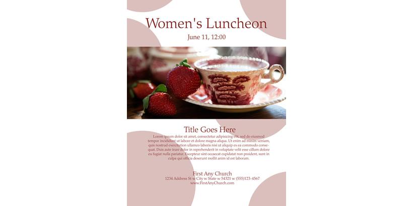luncheon program template