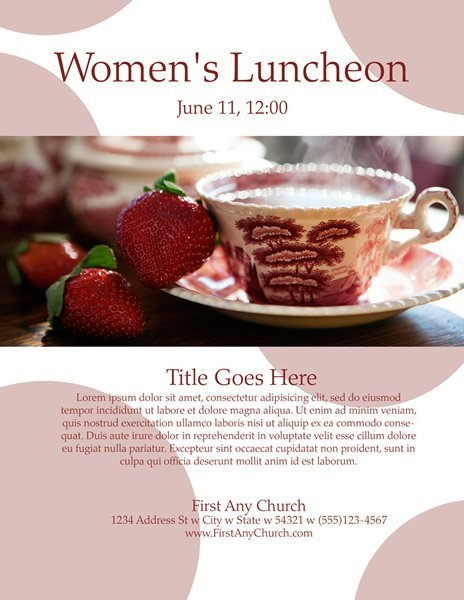 church program template for womens luncheon