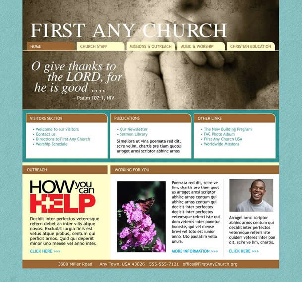 Find Professional Church Website Templates Church Art Online - Church website templates